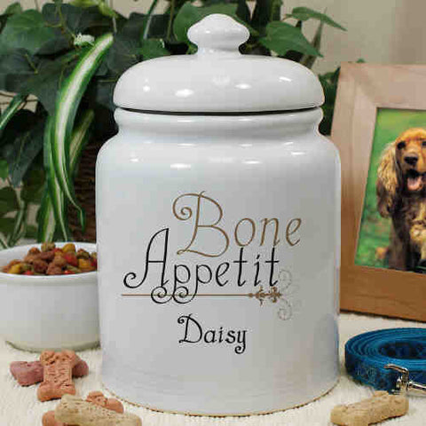 Ceramic Bone Appetit Treat Jar