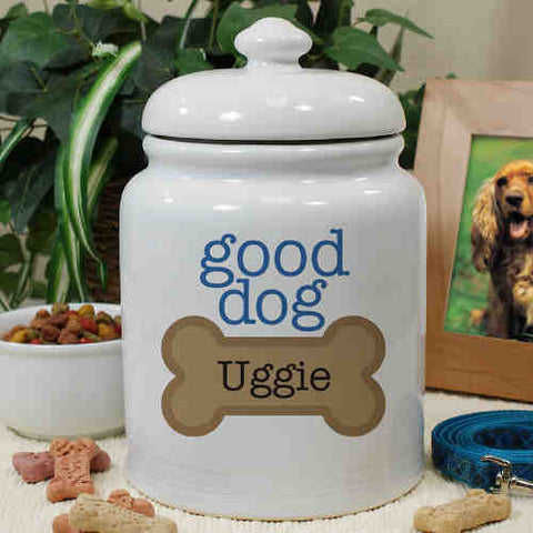 Good Dog Personalized Treat Jar