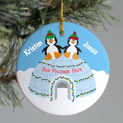 Penguin Couple Personalized Ornament