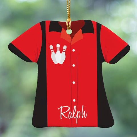 Bowling Shirt Personalized Ornament