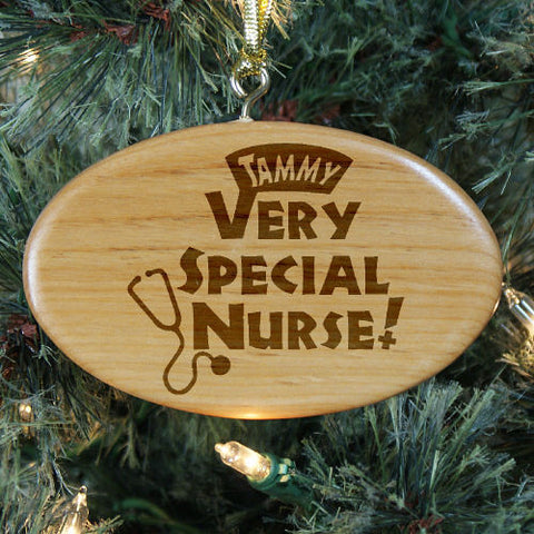 Special Nurse Personalized Wood Ornament