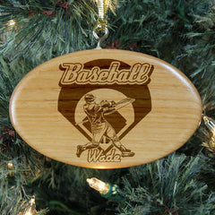 Baseball Personalized Wood Ornament