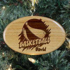 Basketball Personalized Wood Ornament