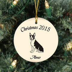 Custom Boston Terrier Ornament