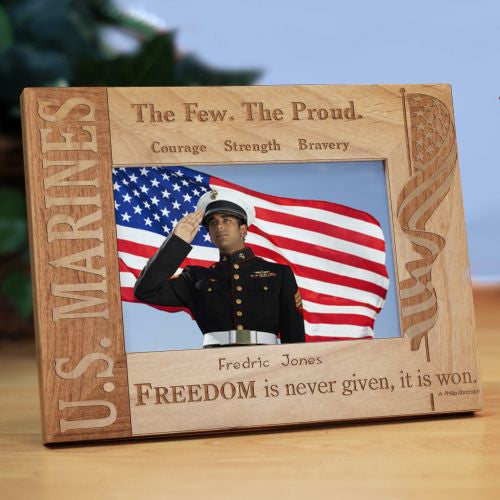 U.S. Marine Wood Picture Frame
