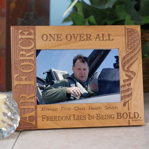 Us Air Force Wood Picture Frame Bellas Personal Gifts