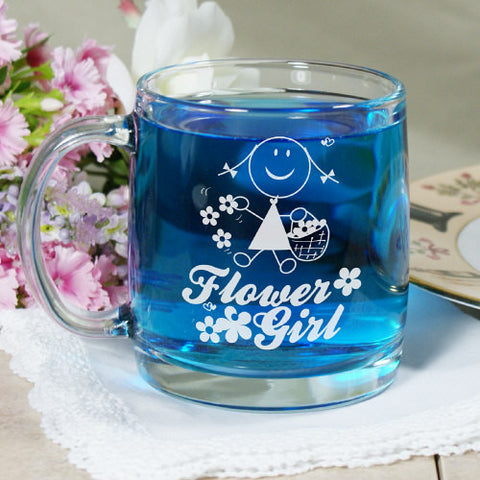Flower Girl Glass Mug