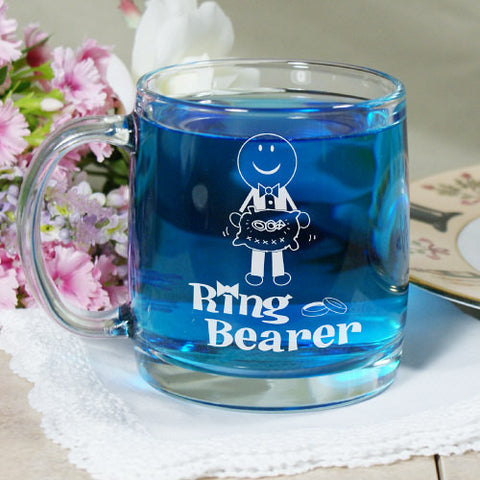 Ring Bearer Personalized Glass Mug