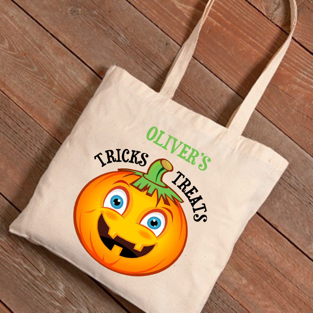 Pumpkin Personalized Treat Bag