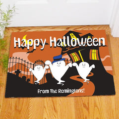 Ghost Family Personalized Doormat
