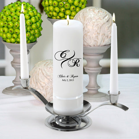 Custom Monogram Unity Candle Set - 10 Designs