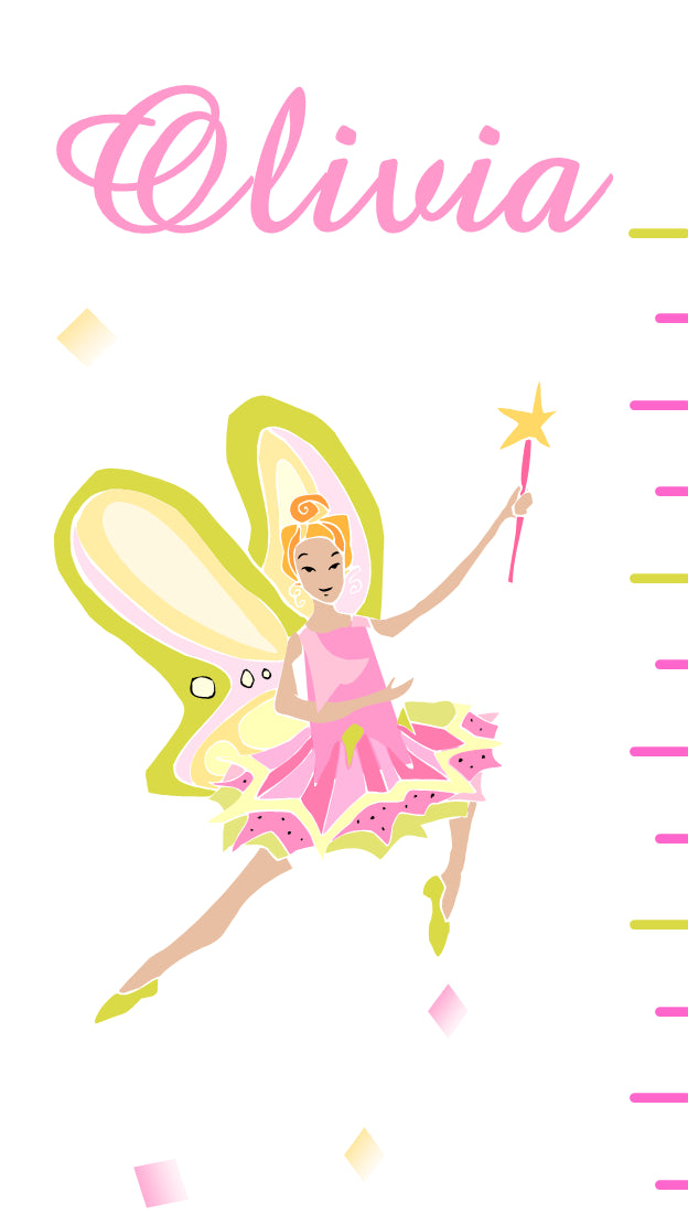 Fairy Princess Growth Chart Bellas Personal Gifts
