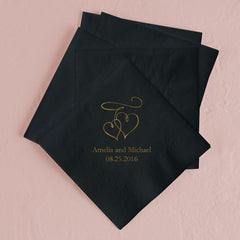 Double Hearts Dinner Napkins