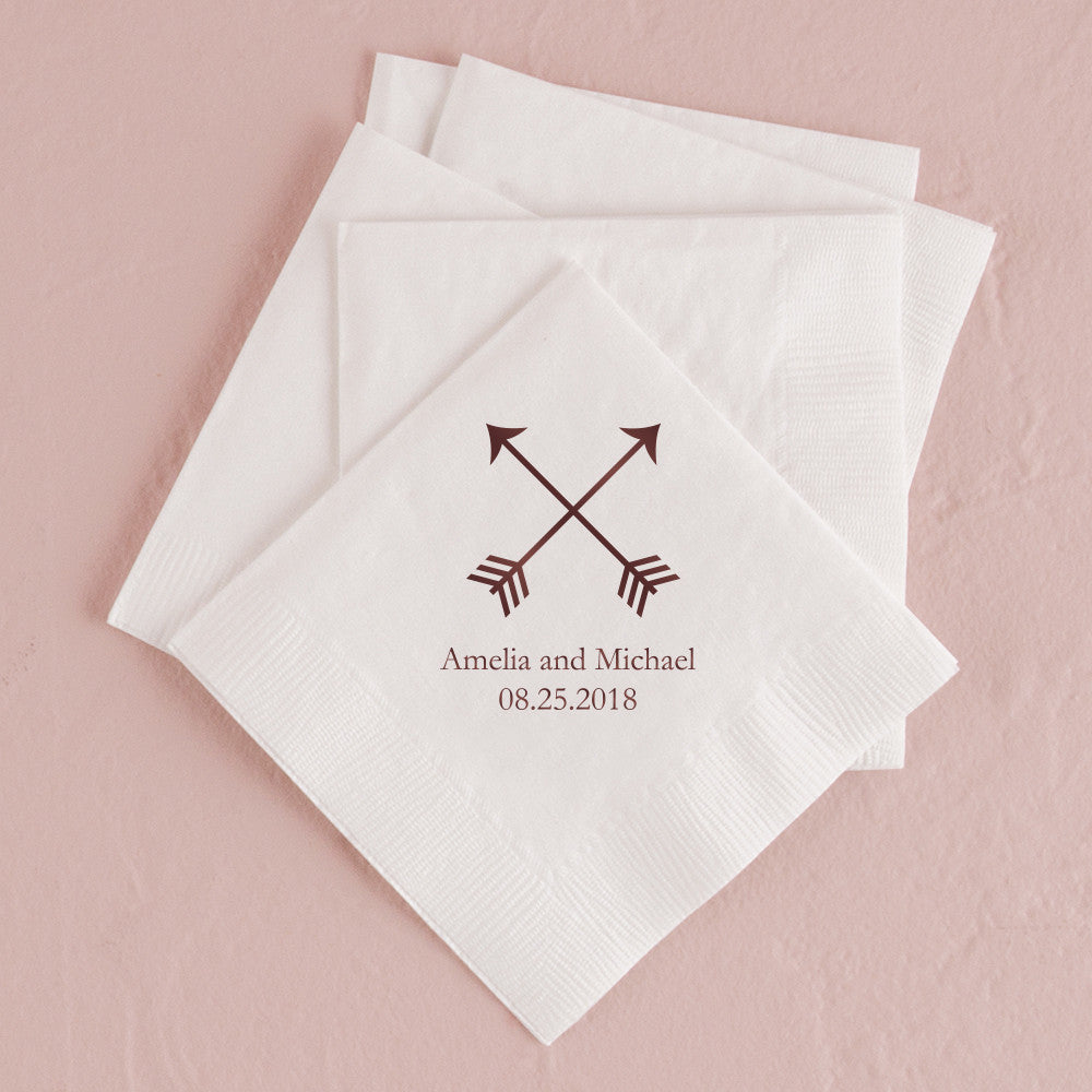 Double Arrows Printed Dinner Napkins