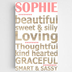 "Personalized ""You Are"" Canvas- Girl"