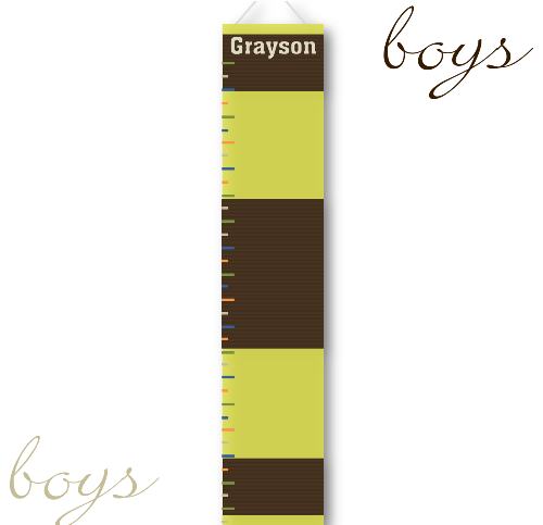 Brown and Green Growth Chart