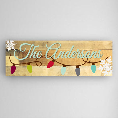 Holiday Lights Canvas Sign