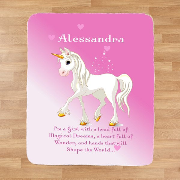 Personalized Unicorn Blanket