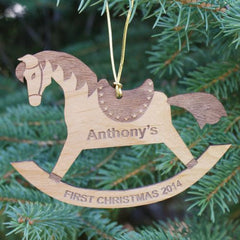 Rocking Horse Wooden Ornament