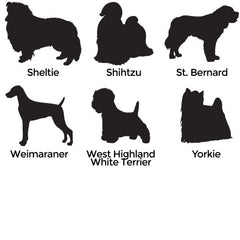 Dog Silhouette Engraved Pet Memorial Urn- many breeds