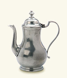 Pewter coffee pot, 36 ounces, 9.6""