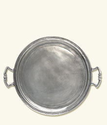 Pewter serving tray, 14.8""