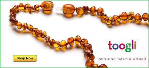 amber teething necklace by toogli