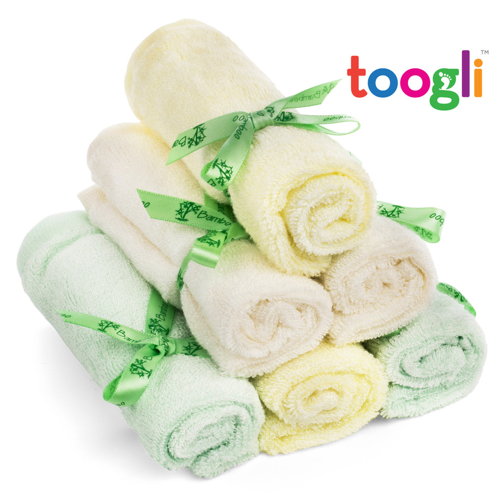 CYBER MONDAY SPECIAL - SAVE 40%!  Ultra Soft Bamboo Baby Washcloths (Set of 6) - Toogli - 7