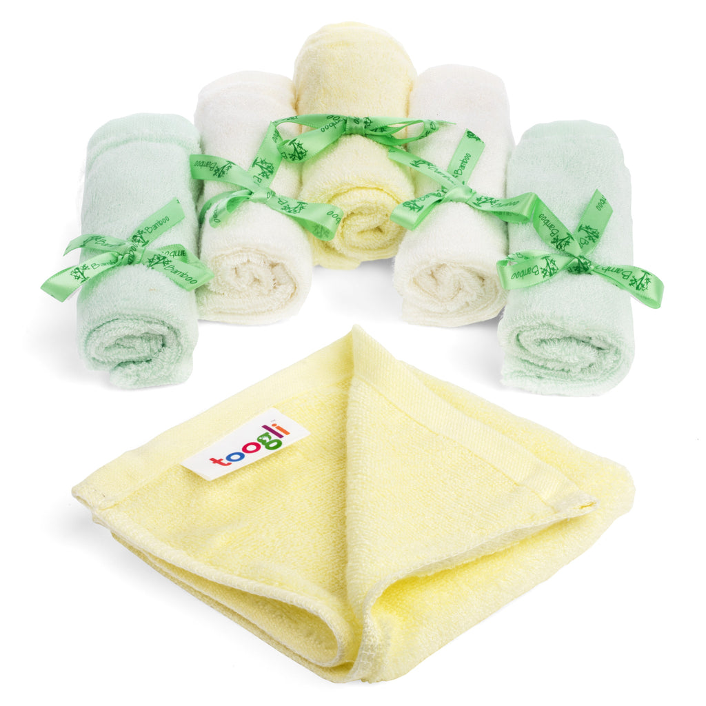 CYBER MONDAY SPECIAL - SAVE 40%!  Ultra Soft Bamboo Baby Washcloths (Set of 6) - Toogli - 3