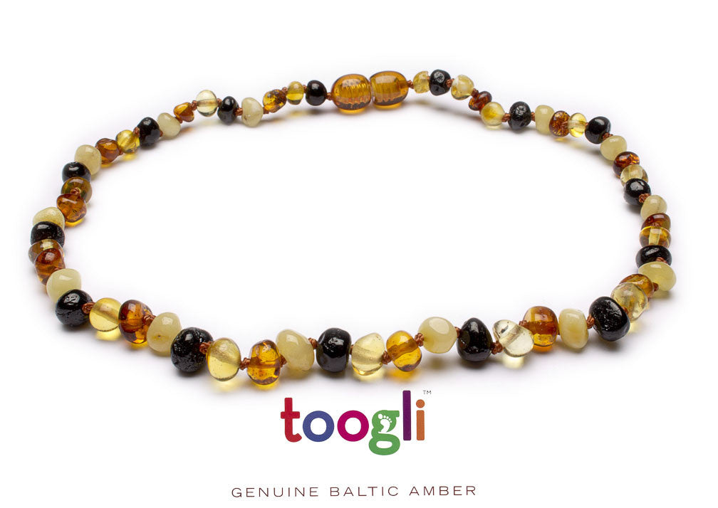 CYBER MONDAY SPECIAL - SAVE 50%! Toogli Multi Color Amber Teething Necklace - Toogli - 2