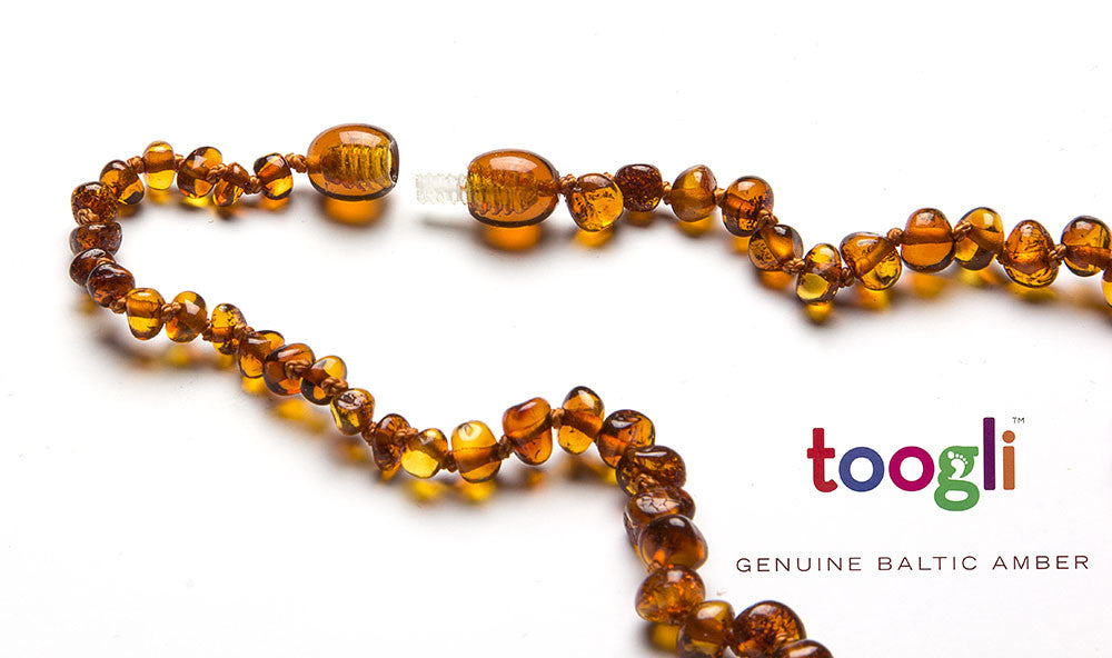 CYBER MONDAY SPECIAL - SAVE 50%!  Cognac Baltic Amber Teething Necklace - Toogli - 5