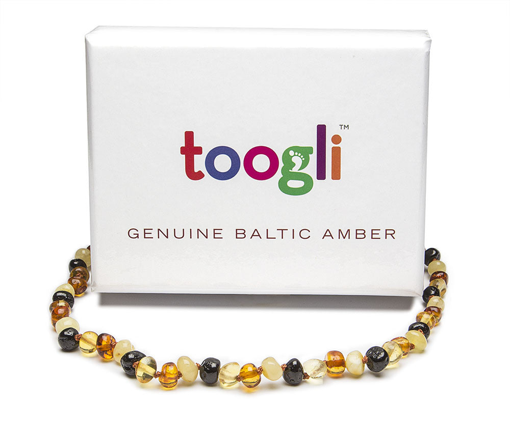 CYBER MONDAY SPECIAL - SAVE 50%! Toogli Multi Color Amber Teething Necklace - Toogli - 4