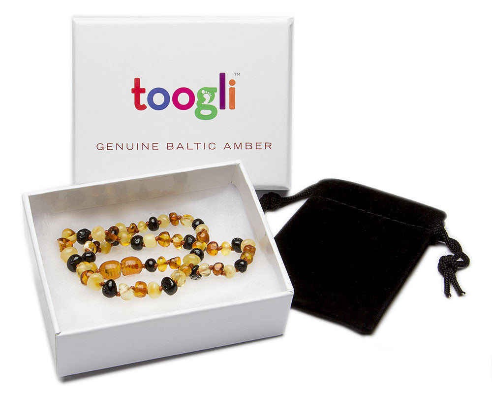 CYBER MONDAY SPECIAL - SAVE 50%! Toogli Multi Color Amber Teething Necklace - Toogli - 3