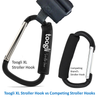 The BETTER XL Stroller Hook Set By Toogli. Two Great Organizer Baby Accessories for Any Mommy or Daddy. Hangs Diaper/Shopping Bags, Purses. Clip Fits All Travel Systems, Baby Joggers & Wheelchairs
