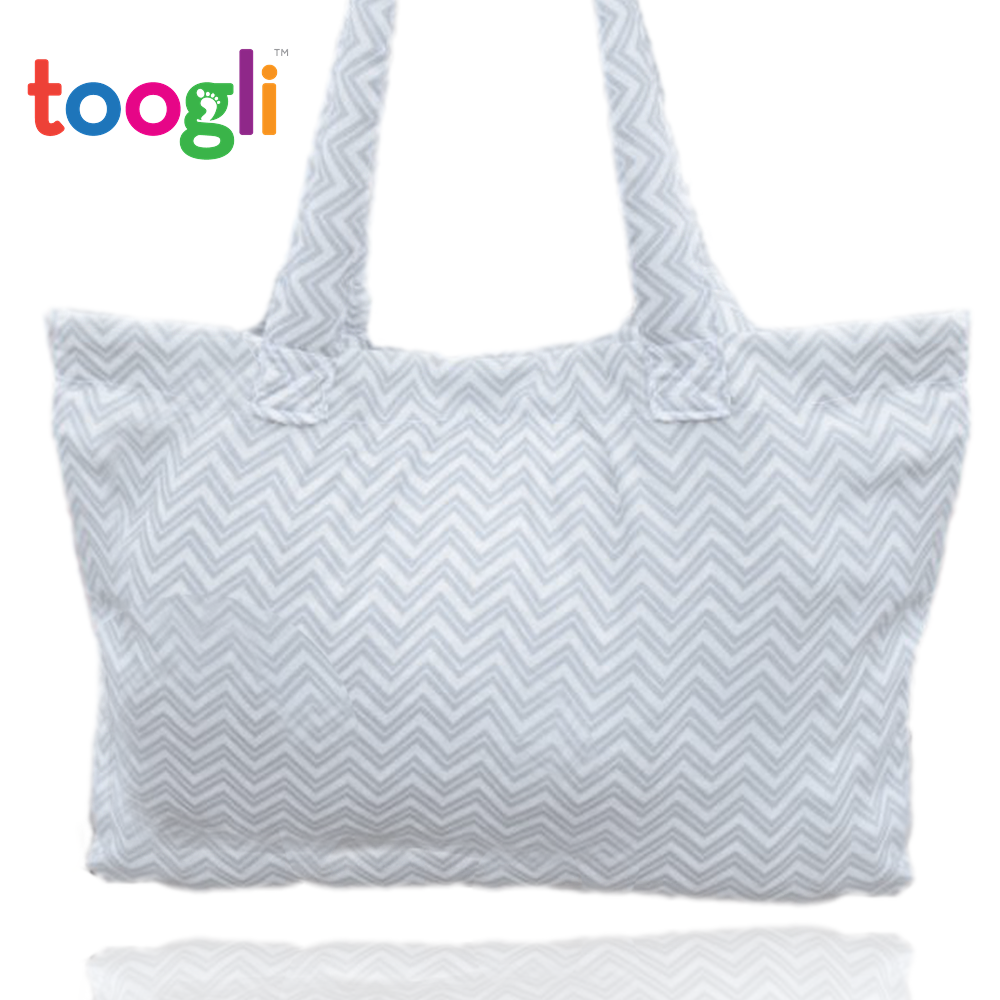 CYBER MONDAY SPECIAL - SAVE 30%! Deluxe Shopping Cart Cover - Gray & White Chevron - Toogli - 7