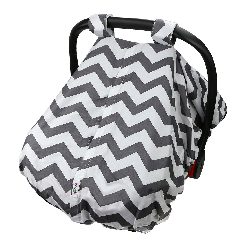 "CYBER MONDAY SPECIAL - SAVE 20%! ""Peek-a-Boo""  Chevron  Carseat Canopy - Toogli - 3"