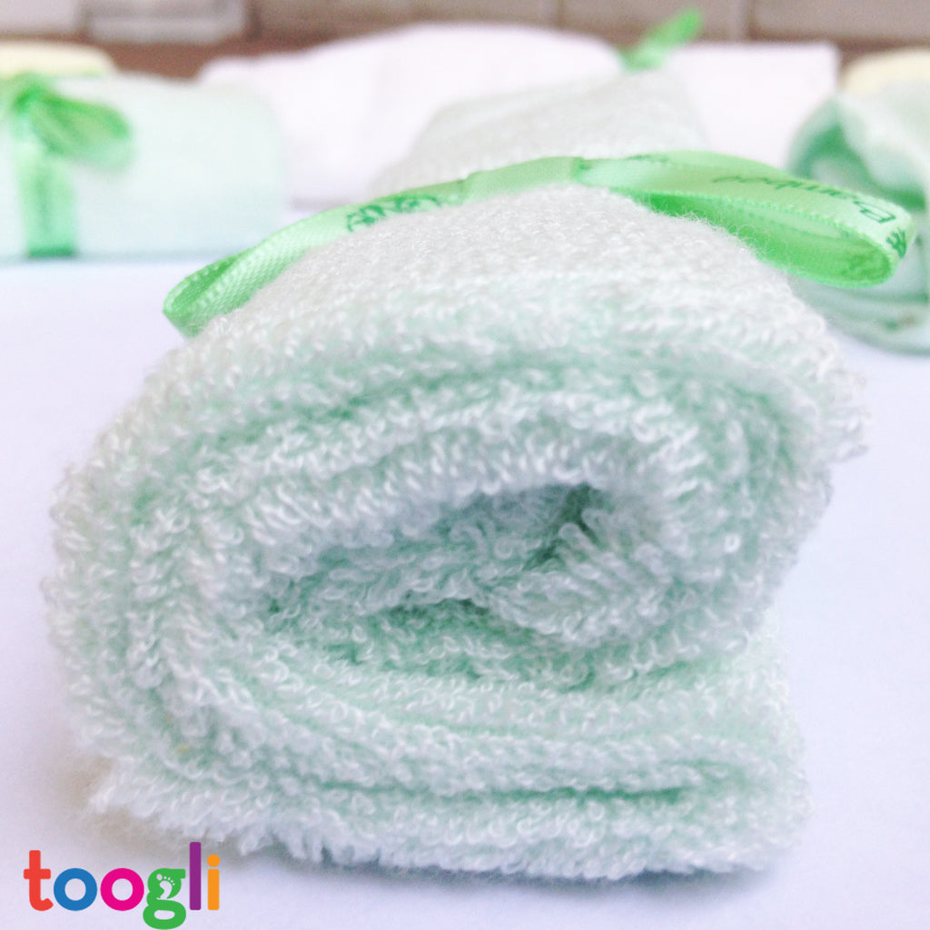 CYBER MONDAY SPECIAL - SAVE 40%!  Ultra Soft Bamboo Baby Washcloths (Set of 6) - Toogli - 9