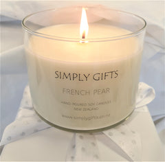 Serene scented soy candle
