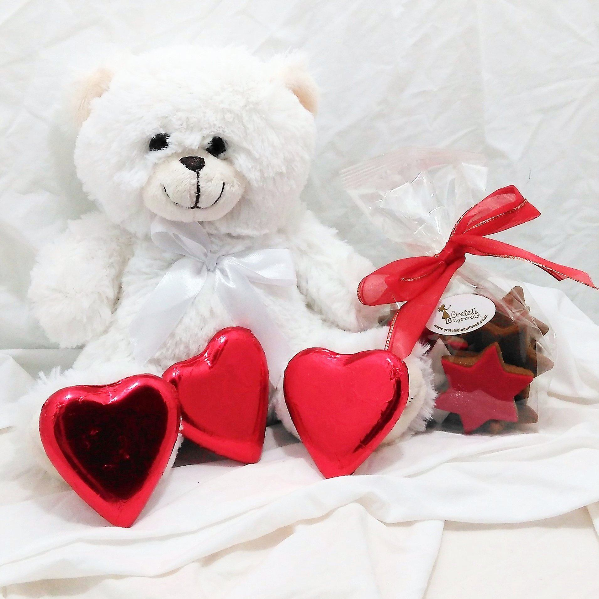 Teddy bear and treat gift