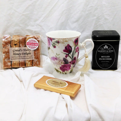 Ready Made Gift - Floral Tea Gift With Scented Candle