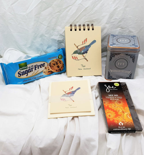 Sugar Free Native Bird Stationery Gift with tea.
