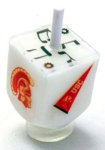 USC Dreidel with Stand. Hand Crafted.  One of a kind  # D-092