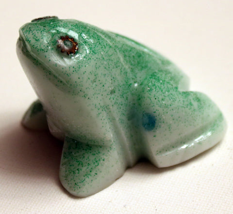 Green Frog with Watch Parts.   Judaica Frog.  Passover Frog.   # F-037