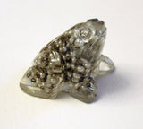 Frog with Gold color and Pearl Necklace inside.   Great for Passover.   # F-041