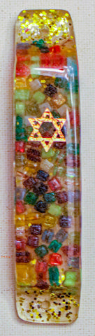 Mezuzah with Star of David. One of a Kind  # M-1063
