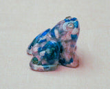 Art Frog with beads.  Judaica Frog.  Passover Frog.   # F-051
