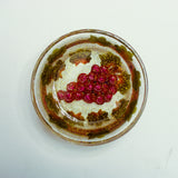 Hand Crafted Judaica Bowl with grapes.  One of a Kind Judaica Art for your Home # B-010