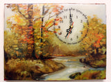 Hand Painted Clock Art with Blessing for the Home.   One of a Kind Art # CL-120