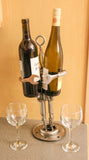 Alien Robot Wine Bottle Holder.  Wine Art.  Unusual Wine Caddy.  Robot Metal Wine Holder.   Metal Art.  One of a Kind Wine Art.