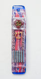 A Mezuzah with Hamsa for the Doorpost of your Home. One of a Kind Judaica Art # M-1082
